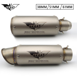Motorcycle Exhaust Muffler 51mm 61mm Pitbike Escape Project For yamaha dt 125 tdm 900 blaster mt 09 xt660 fz16 sr 250 r1 2015