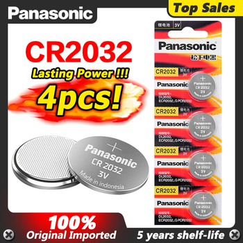 Panasonic 3V cr2032 Coin Lithium 4pcs/lot cr 2032 Button Cell Batteries Battery For Main Board Remote Control Toy image