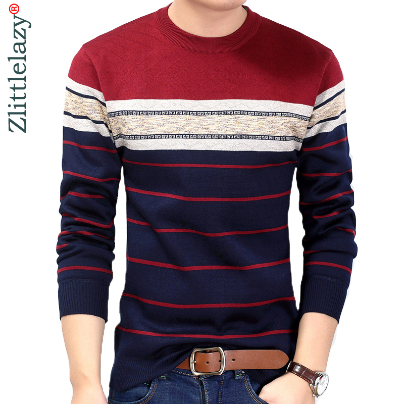 2019 Fashion Casual Clothing Social Fitness Bodybuilding Striped T Shirts Men T-shirt Jersey Tee Shirt Pullover Sweater Camisa