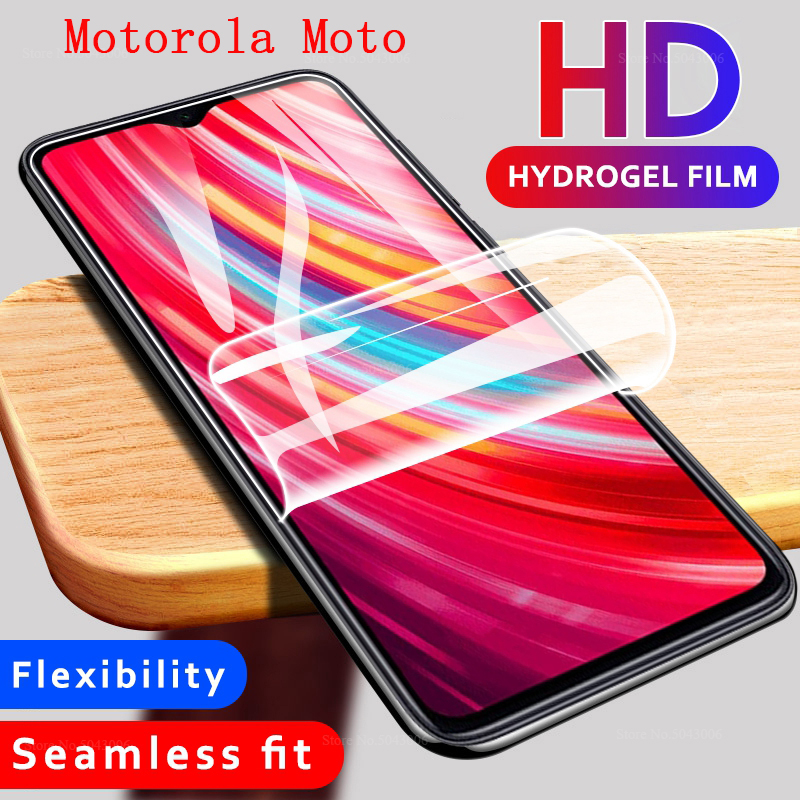 Screen Protector For Motorola Moto zoom E6 Plus E4 Play Force G7 Play E6S Macro One Action Vision P50 Cover Soft Hydrogel Film image