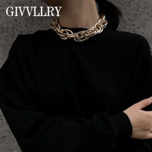 Steampunk Geometric Chain Choker Statement Necklace Women Jewelry Fashion Personality Vintage Punk Chunky Chain Gold Necklaces punk chunky cuban multi layter necklace for women male vintage new design thick long chain necklace steampunk statement jewelry