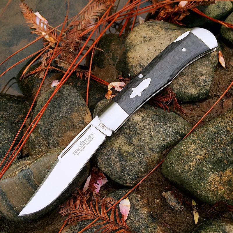 Складной нож с лезвием 60HRC Brother 1507 VG10, карманный нож для повседневного использования, тактические ножи для выживания, охотничьи складные нож...