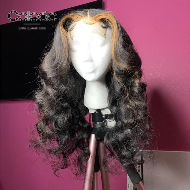 COLODO Pre Plucked #4 Roots Blonde Highlights Color Body Wave Wig Brazilian Remy Hair Full Lace Human Hair Wigs for Black Women 4