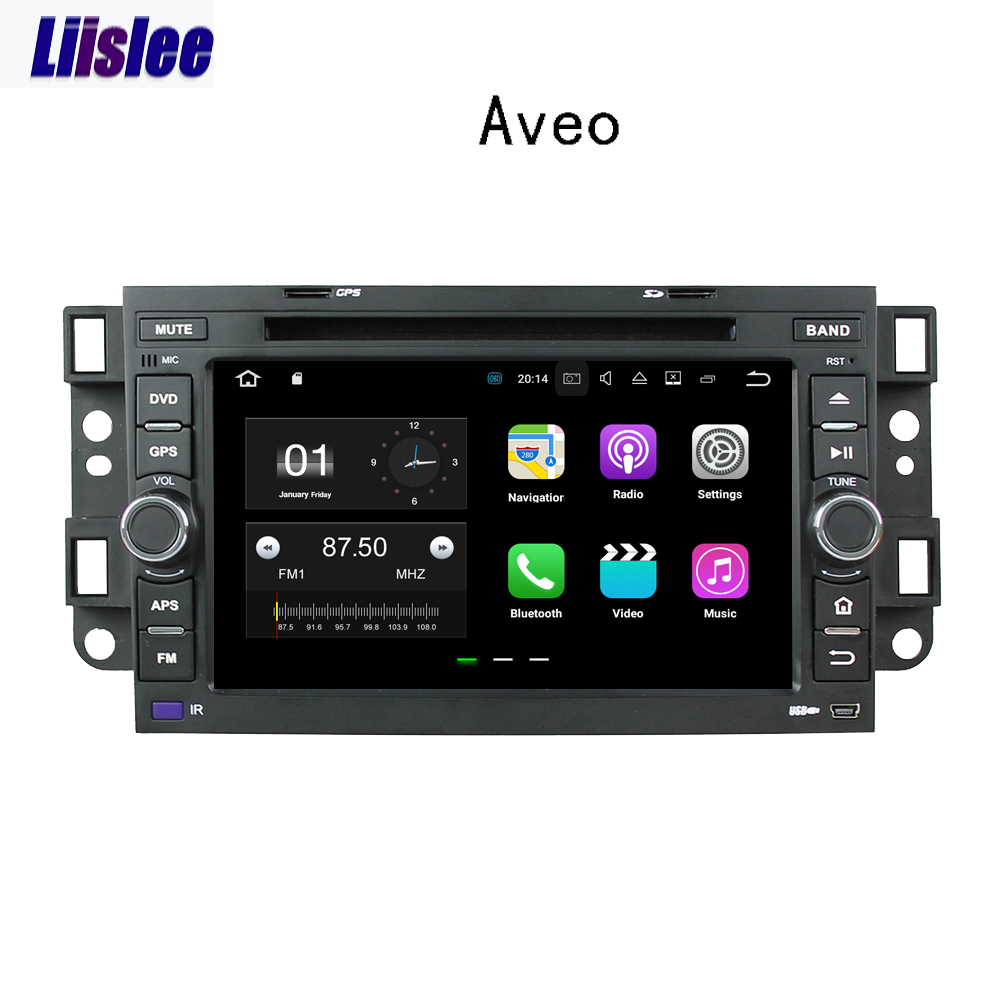 Liislee <font><b>2</b></font> <font><b>din</b></font> Android <font><b>Car</b></font> Navigation GPS <font><b>For</b></font> <font><b>Chevrolet</b></font> <font><b>Aveo</b></font> T200 2002~2011 Auto <font><b>Radio</b></font> Stereo Multimedia Big Screen Player image