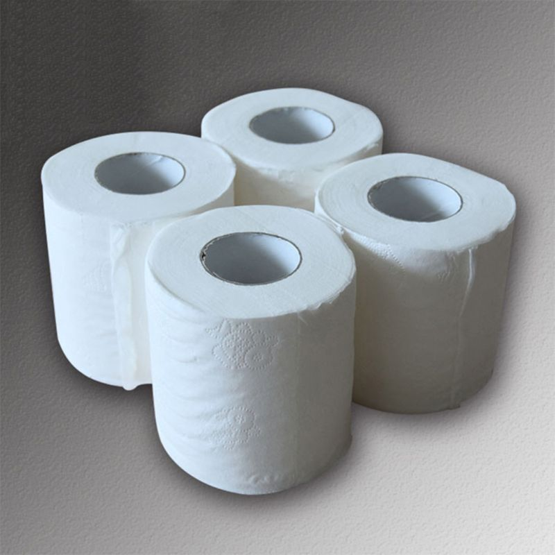 Roll Paper, Household 4 Bathroom Toilet Paper Roll Paper Toilet Paper