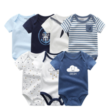Baby Girl ClothesCotton Newborn Boy Baby Romper7Pcs/lots Short Sleeve Toddler Costume Cartoon Baby Onesie Jumpsuit