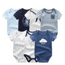 תינוקת בגדי כותנה יילוד ילד תינוק Romper 7 Pcs/lots קצר שרוול פעוט תלבושות קריקטורה תינוק סרבל תינוקות סרבל