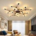 Новый Креативный светодиодный потолочный светильник для гостиной  освещение для спальни  металл + акриловая Скандинавская лампа  современн...