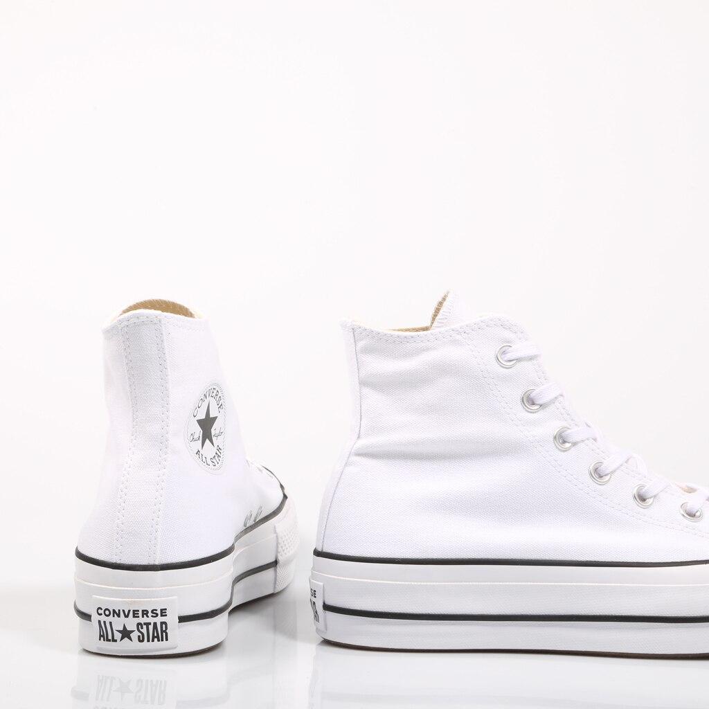 Converse Chuck Taylor All Star plate-forme propre haut blanc baskets femme chaussures décontracté 69224 - 3