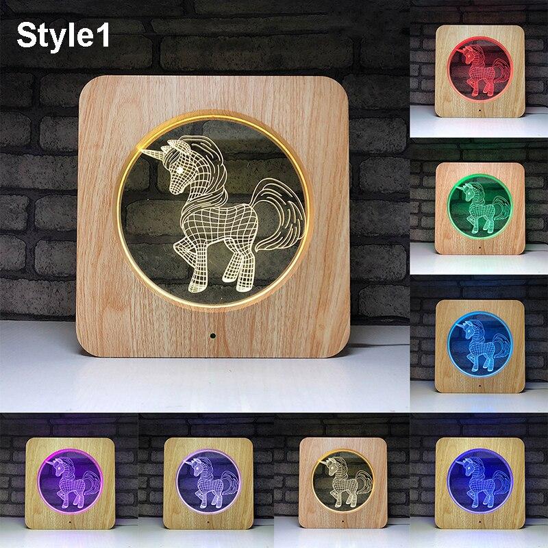 3D LED Unicorn Table Lamp 7 Colors Change Night Light Multicolor RGB Bulb Dropshipping  Room Decor Christmas Toys Gift For Kid