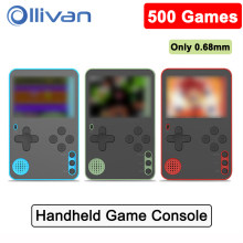 500 Games Mini Ultra Thin Handheld Video Game Console Portable Handheld Game Players Retro Game 8 Bit Gameboy Consolas 2.4 Inch