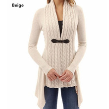 New Womens Cardigan Slim Irregular One Button Knit Casual Lapel Shirt Autumn Long-Sleeved Coat