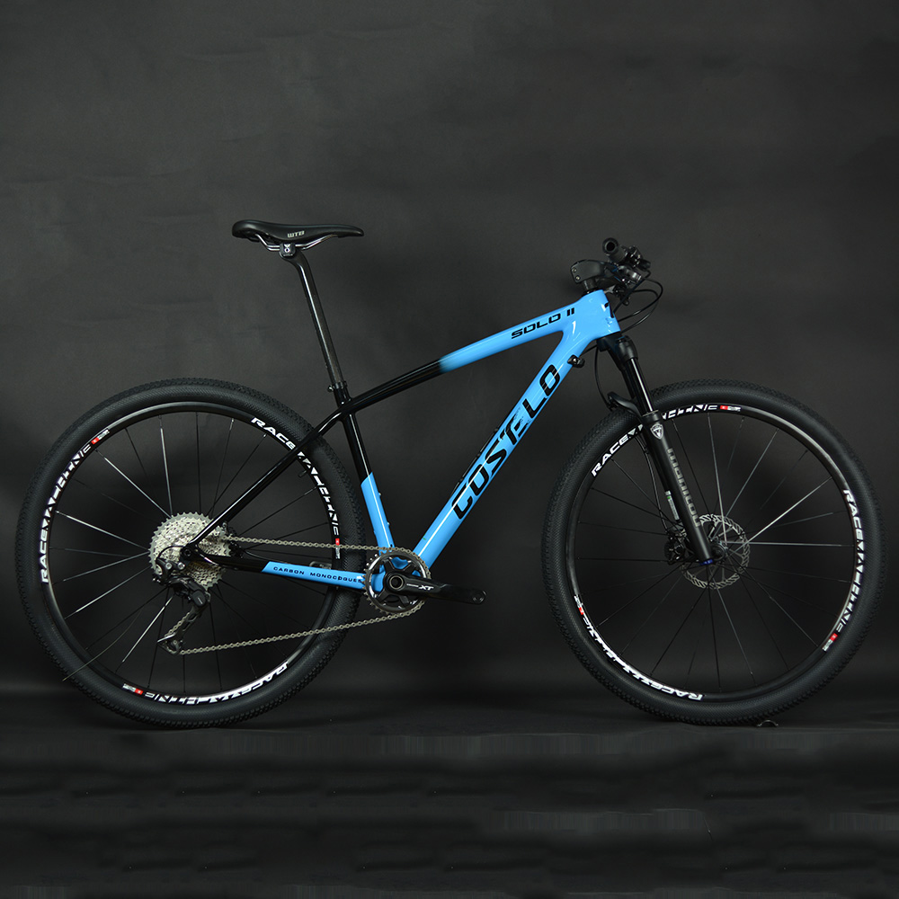 Велосипед Горный 1X11 Speed XT Manituo M30, вилка Costelo SOLO 2, 29er сквозная ось, карбоновая рама