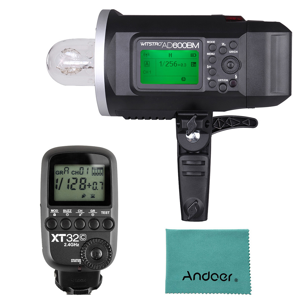 <font><b>Godox</b></font> WITSTRO <font><b>AD600BM</b></font> 600WS GN87 Outdoor Flash Strobe + <font><b>Godox</b></font> XT32C Wireless Power-Control Flash Trigger Transmitter for Canon image