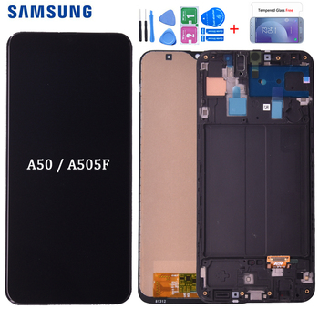 For Samsung Galaxy A50 SM-A505FN/DS A505F/DS A505 LCD Display Touch Screen Digitizer With Frame For Samsung A50 Lcd
