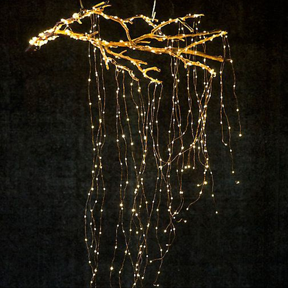 Outdoor LED Vines Lights Waterfall Fairy Icicle Lights 300 Luces Christmas Tree Light For Holiday Party Garden Decoration