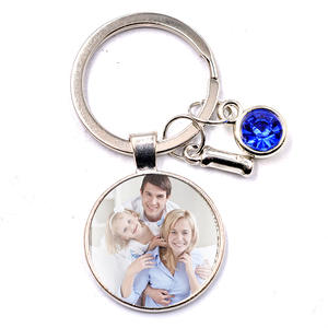 Photo Keychain Couple Gift Parent-Child Surname Baby Family DIY