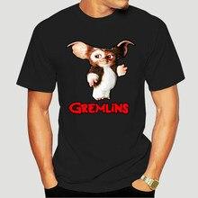 Hombres camiseta de Gremlins Gizmo Camiseta de algodón de manga corta Camiseta Gizmo 80s película Mogwai monstruo T camisa cuello redondo de talla grande 5379A