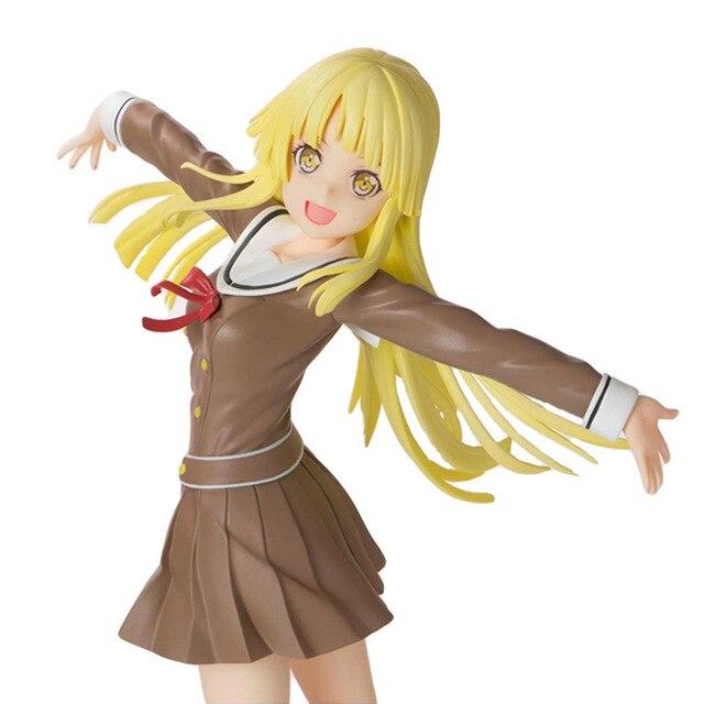 Anime 1/8 échelle peint Figure BanG rêve! Fête des filles! Bonjour Ver du monde heureux. Jouet figurine en PVC Kokoro Tsurumaki 21CM