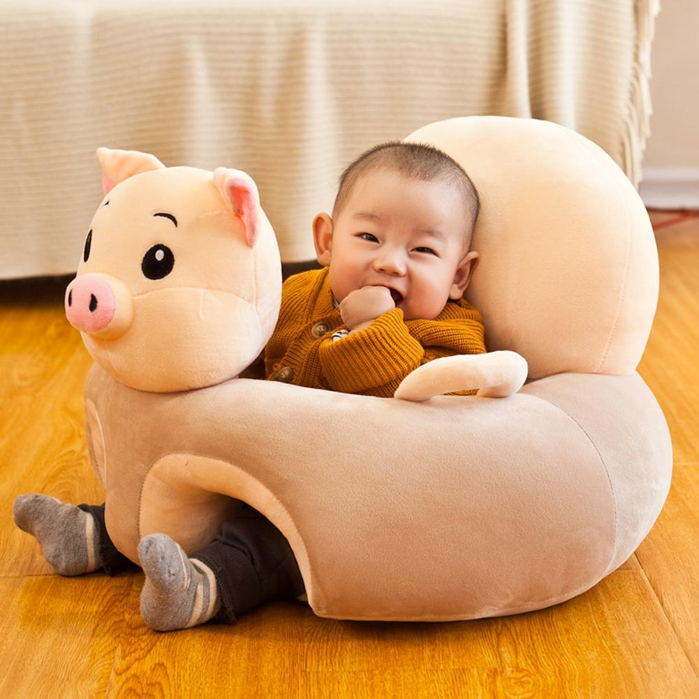 Kidlove Baby Plush Sofa Chair Early Education Couch Baby Learning Seat Correct Infant Sitting Position