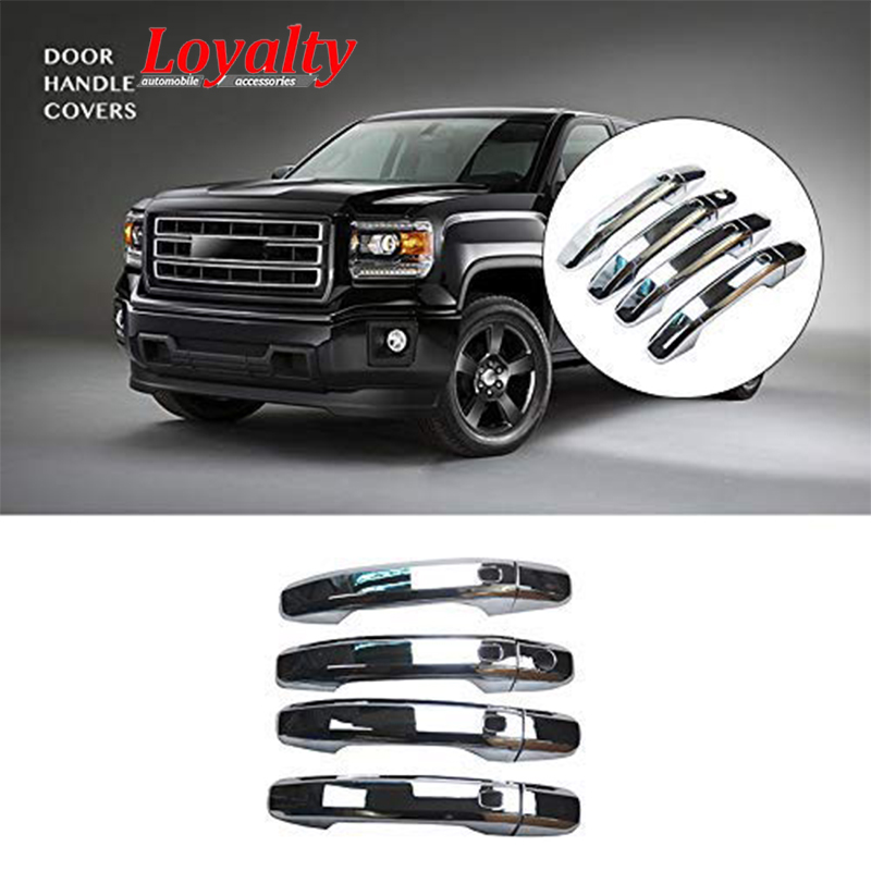 LOYALTY for 14-21 GMC Sierra Silverado Chevy Tahoe Suburban Door Handle Cover ABS Chrome Car Styling Auto Accessories