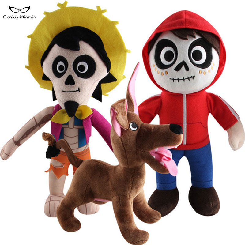 Us 4 84 3 Off 30cm Movie Coco Pixar Plush Stuffed Toys Coco Michael Hector Dante Dog Death Stuffed Doll For Children Christmas Gifts On Aliexpress
