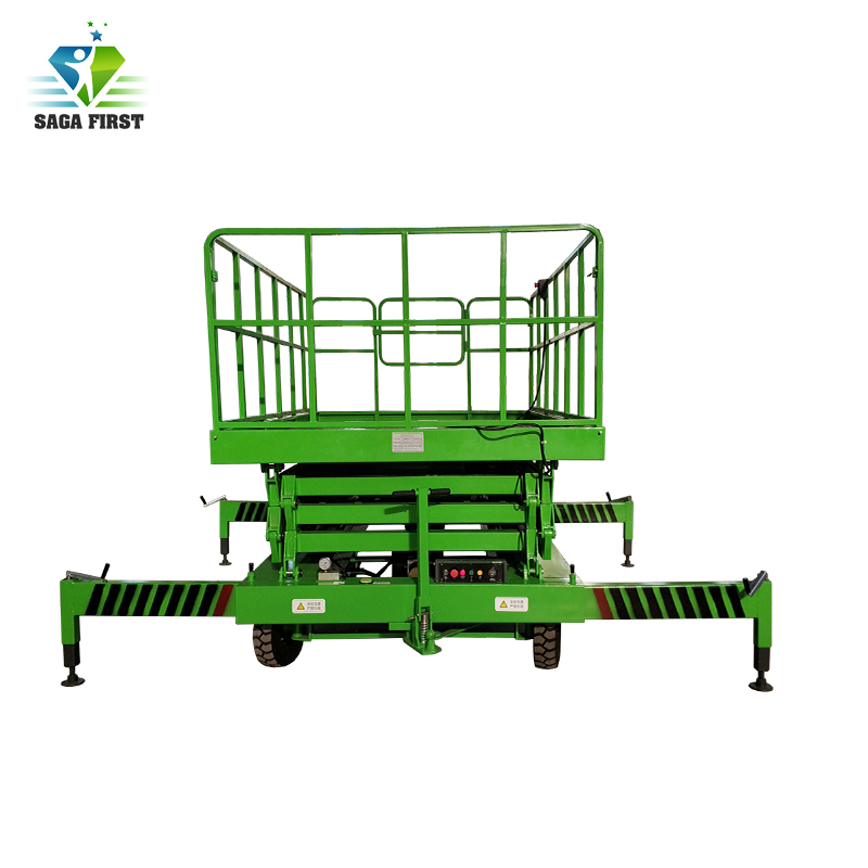 6m 20m High Quality Electric Hydraulic Mobile Scissor Lift With CE ISO