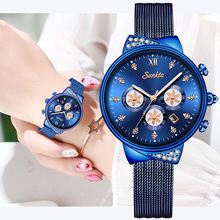 2019 SUNKTA Women Dress Watches Luxury Brand Ladies Quartz