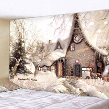 Christmas house Art Home Wall Hanging Tapestry Wall Ornamentation Christmas Wall Decor High Quality Tapestry Home Decor