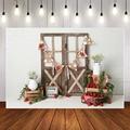 Mehofond ферма сладкая клубника фотография Фон винтажный деревянная дверь кирпичная стена детский душ фон фотосессия Фотостудия