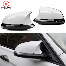F36 Side Mirror Cover Replacement M3 M4 Look For BMW F22 F31 F30 X1 E84 M2 F87 F20 F21 F23 F32 F33 ABS Rear View Mirror Cover universal replacement carbon fiber mirror cover for bmw rearview door mirror covers x1 f20 f22 f30 gt f34 f32 f33 f36 m2 f87 e84