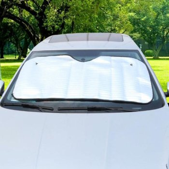 New Car Single-sided Sunshade Car Front Window Sun Shade Aluminum Foil Insulation Sun Block Window Windshield Cover image