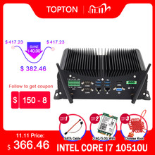 10th Gen Industrie Fanless Mini-Computer Intel i7 10510U i5 10210U Robuste PC 6 * COM 2 * Lans 8 * USB GPIO LPT HDMI VGA 4G WiFi