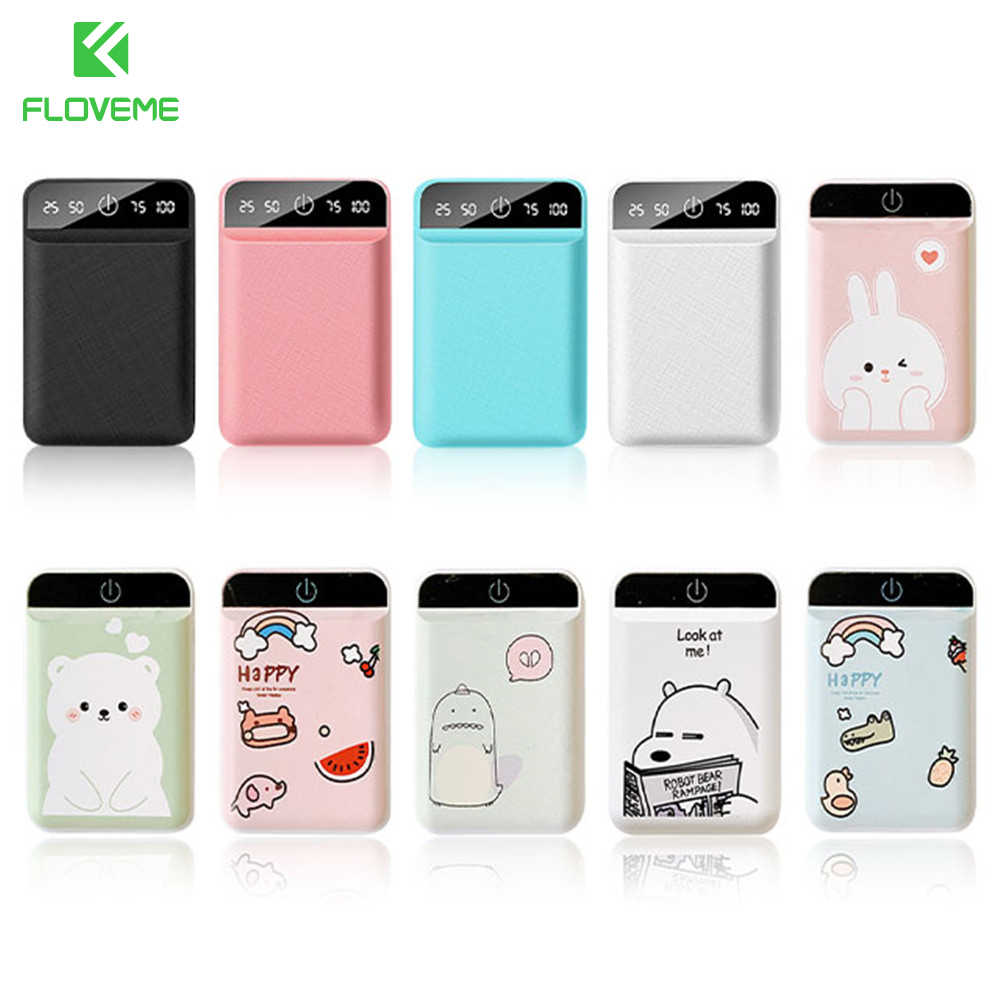 FLOVEME 4800mAh Power Bank Portable Cute cartoon Poverbank for iPhone Xiaomi mi Mobile Phone Battery Powerbank Dual USB Charge