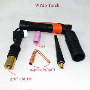 Image 3 - Profesyonel WP26 TIG meşale GTAW gaz Tungsten ark kaynak tabancası WP26FV Argon hava soğutmalı gaz vanası uzaktan kumanda TIG kaynak meşale