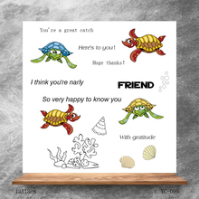 ZhuoAng Silly turtle Clear Stamps/Silicone Transparent Seals for DIY scrapbooking photo album Clear Stamps silly chemnitz
