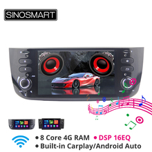 SINOSMART 4G RAM 8 Core CPU Car GPS Navigation Player for Fiat Linea Punto Evo Grande Punto 2005 2020 with Canbus