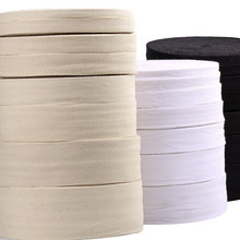 Ribbon Natural White Black Chevron 100% Cotton Ribbon Webbing Herring Bonebinding Tape Trimming for DIY Wedding Party Decor 50Y