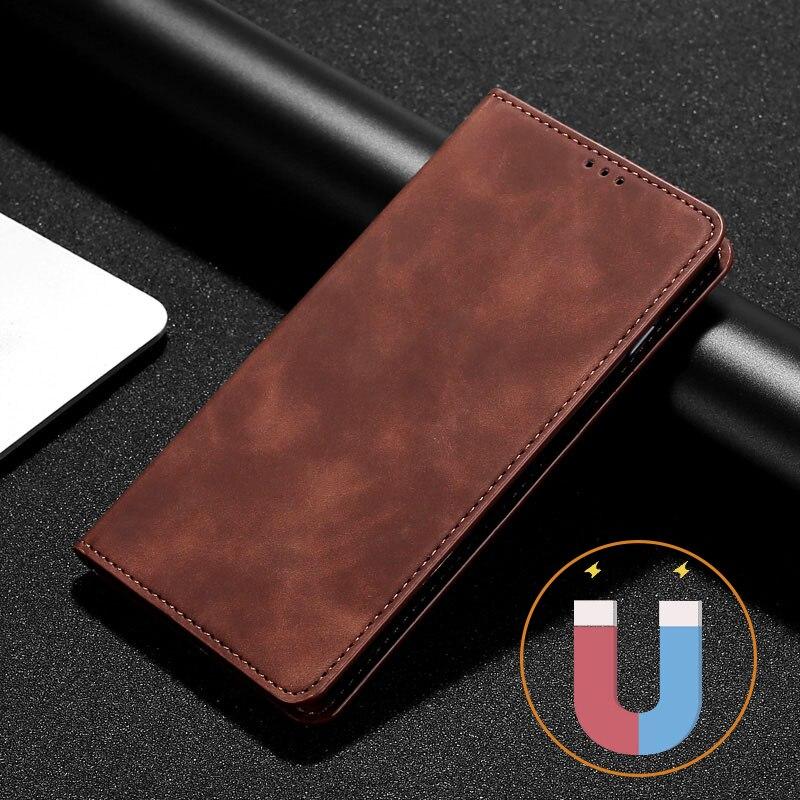 Простой кожаный флип-чехол для Xiaomi Redmi Note 4 4X 5 6 7 8 9 8T 9T Pro 2 3 4, магнитный чехол для телефона redmi 3 4A 5 6 PRO 8 8A, чехол