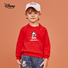 Disney Childrens Wear Round-Neck Top Mickey Baby Dress Boy Clothes Kids Sweaters Toddler Sweater Pullover Cute