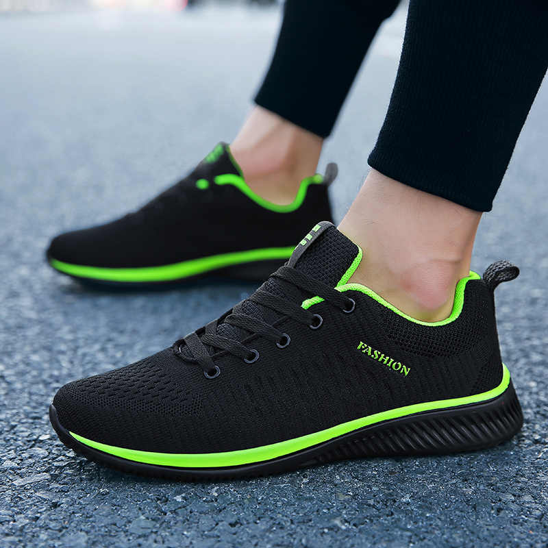Nieuwe Mesh Mannen Casual Schoenen Lac-up Mannen Schoenen Lichtgewicht Comfortabele Ademend Wandelen Sneakers Tenis Masculino Zapatillas Hombre