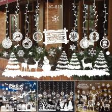 Huiran Wall Window Christmas Stickers Decoration For Home 2019 Merry Ornaments Xmas Happy New Year 2020