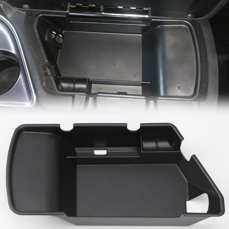 LHD! For Dodge Challenger 2015 2016 2017 2018 2019 Accessories Interior Central Armrest Storage Box Holder Car Organizer