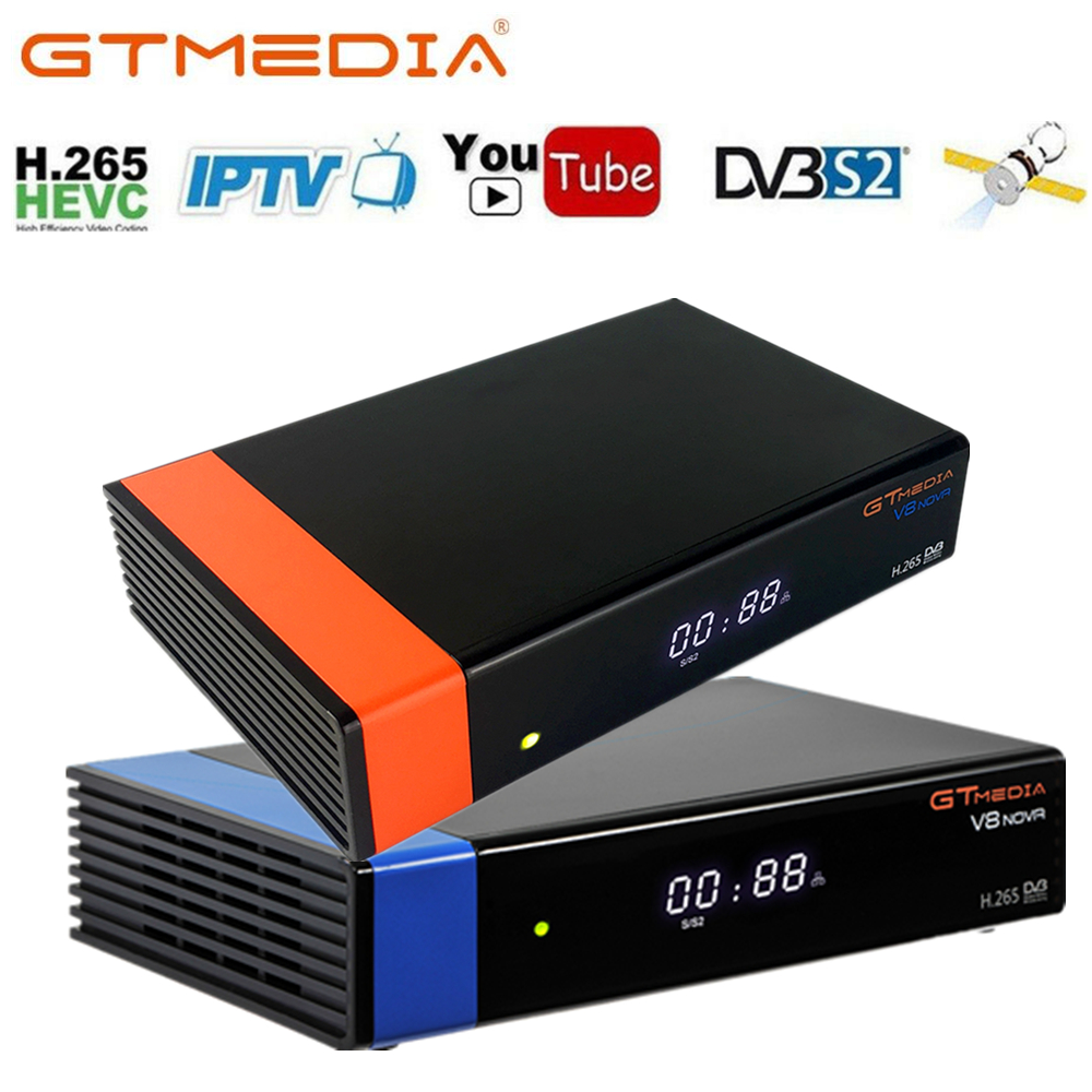 GTmedia V8 Nova 1080P HD DVB-S2 спутниковый ТВ приемник встроенный WIFI цифровой рекордер Стандартный H2.65 телеприставка