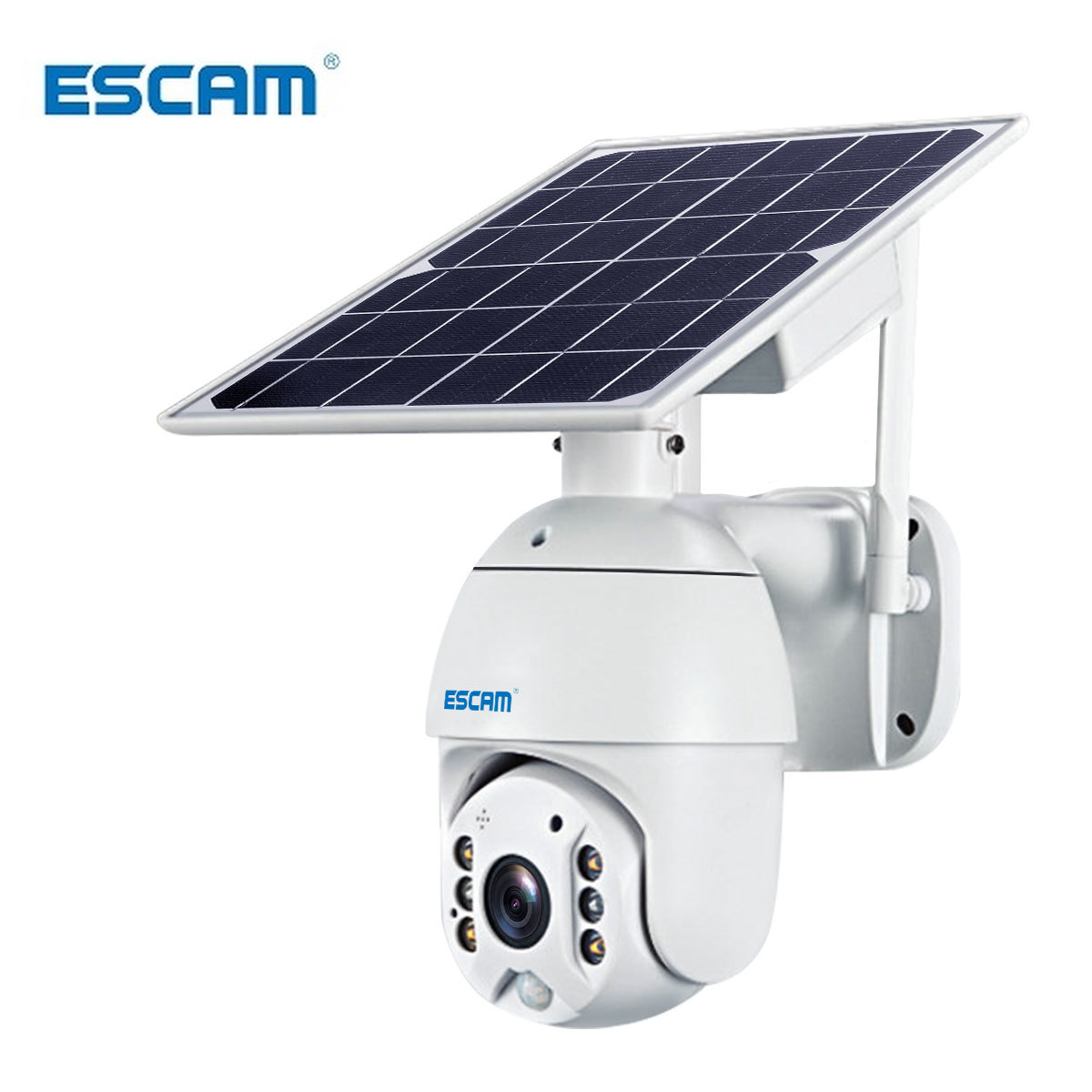 ESCAM QF280 1080p Wifi Version Shell Solar Security Camera Outdoor Surveillance Waterproof CCTV Camera Smart Home Two-way Voice