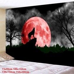 Настенный гобелен с 3D принтом волка для спальни, гостиной, зала, картина на стену, гобелен (95 см x 73 см/150 см x 10 см/150 см x 13 см/200 см x 150 см)