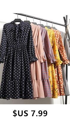 2020-Spring-Autum-Casual-Chiffon-Shirt-Dress-Office-Plaid-Vintage-Dress-Women-Polka-Dot-Dress-Red_副本