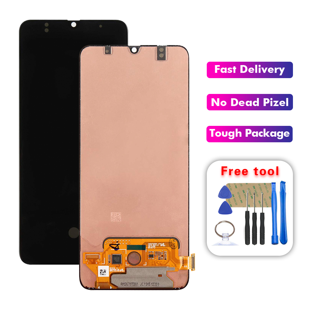 6.7'' SUPER AMOLED <font><b>LCD</b></font> For <font><b>SAMSUNG</b></font> Galaxy 2019 <font><b>A70</b></font> A705/DS A705F SM-A705F Display Touch Screen Digitizer Assembly Replacement image