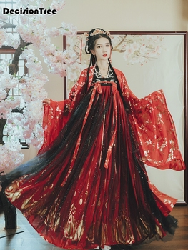 2020 traditional hanfu dance costume women dynasty costume chinese costume oriental dress ancient princess clothing for women 2020 hanfu coat chinese crane print hanfu coat traditional ancient han tang dynasty red cloak female cosplay cardigan