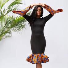 Африканские платья для женщин зимнее платье с длинным рукавом